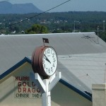 Solar town clock